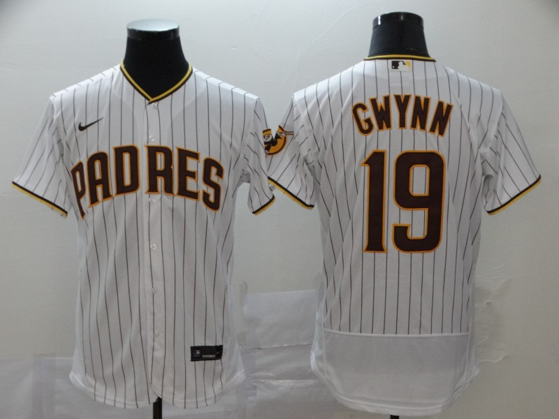 Padres 19 Tony Gwynn White Nike 2020 Flexbase Jersey