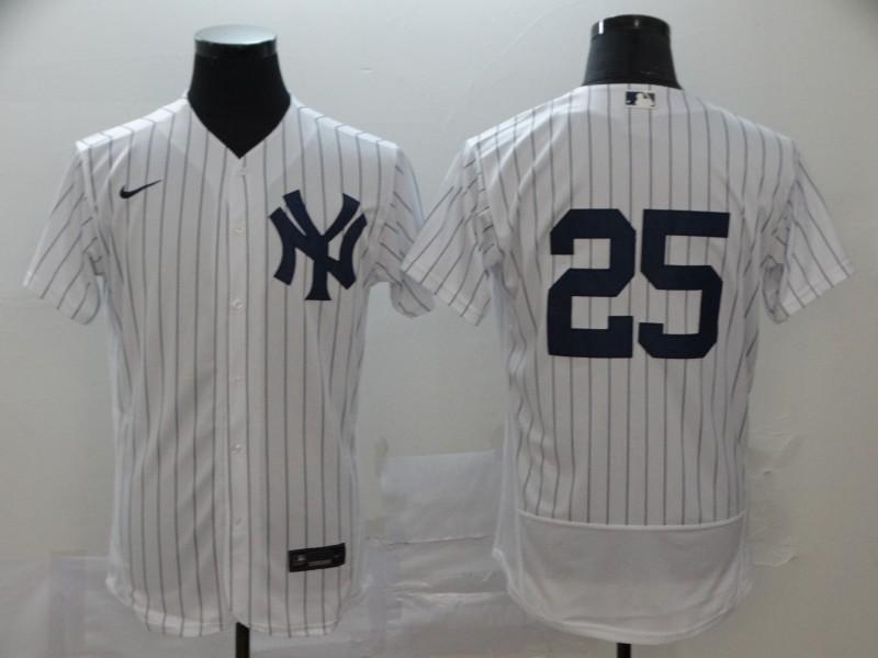 Yankees 25 Gleyber Torres White 2020 Nike Flexbase Jersey