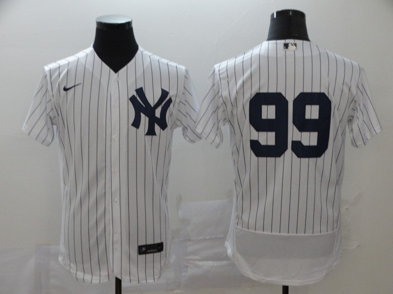 Yankees 99 Aaron Judge White 2020 Nike Flexbase Jersey