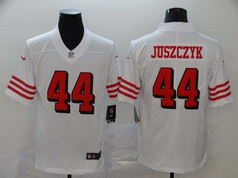 Nike 49ers 44 Kyle Juszczyk White Color Rush Vapor Untouchable Limited Jersey