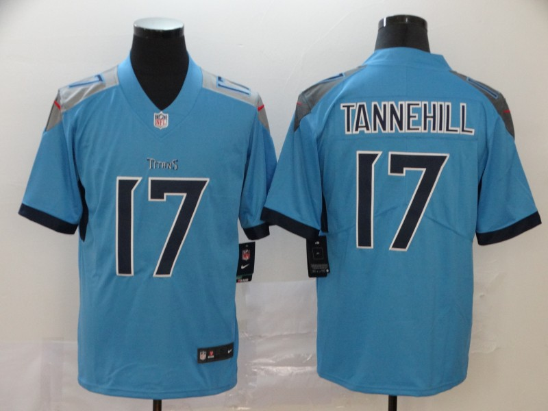 Titans 17 Ryan Tannehill Blue Vapor Untouchable Limited Jersey