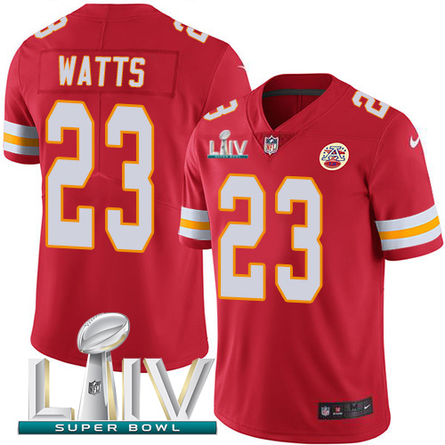 Nike Chiefs 23 Armani Watts Red Youth 2020 Super Bowl LIV Vapor Untouchable Limited Jersey