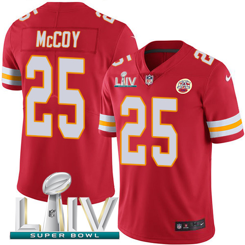 Nike Chiefs 25 LeSean McCoy Red Youth 2020 Super Bowl LIV Vapor Untouchable Limited Jersey