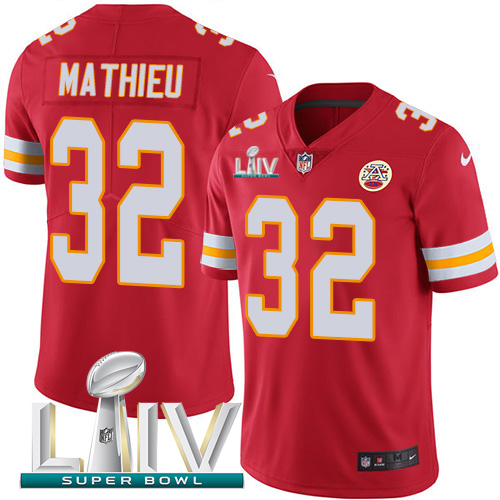 Nike Chiefs 32 Tyrann Mathieu Red Youth 2020 Super Bowl LIV Vapor Untouchable Limited Jersey