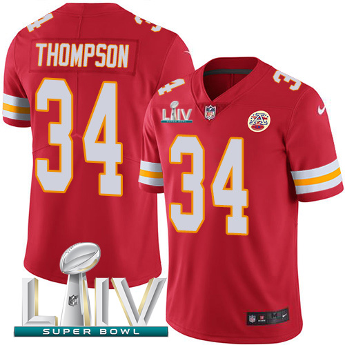 Nike Chiefs 34 Darwin Thompson Red 2020 Super Bowl LIV Vapor Untouchable Limited Jersey