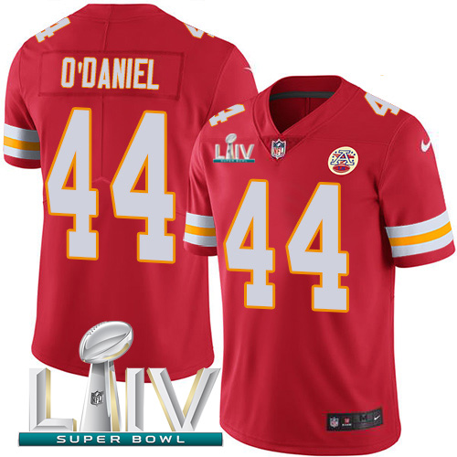 Nike Chiefs 44 Dorian O'Daniel Red Youth 2020 Super Bowl LIV Vapor Untouchable Limited Jersey