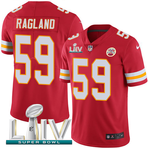 Nike Chiefs 59 Reggie Ragland Red Youth 2020 Super Bowl LIV Vapor Untouchable Limited Jersey