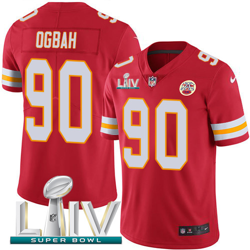 Nike Chiefs 90 Emmanuel Ogbah Red Youth 2020 Super Bowl LIV Vapor Untouchable Limited Jersey