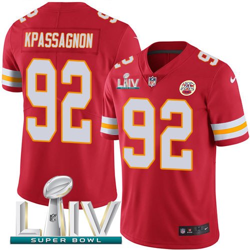 Nike Chiefs 92 Tanoh Kpassagnon Red Youth 2020 Super Bowl LIV Vapor Untouchable Limited Jersey