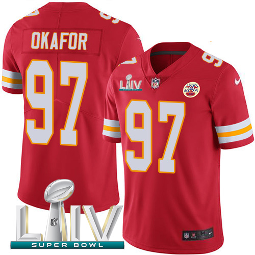 Nike Chiefs 97 Alex Okafor Red Youth 2020 Super Bowl LIV Vapor Untouchable Limited Jersey