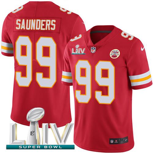 Nike Chiefs 99 Khalen Saunders Red Youth 2020 Super Bowl LIV Vapor Untouchable Limited Jersey