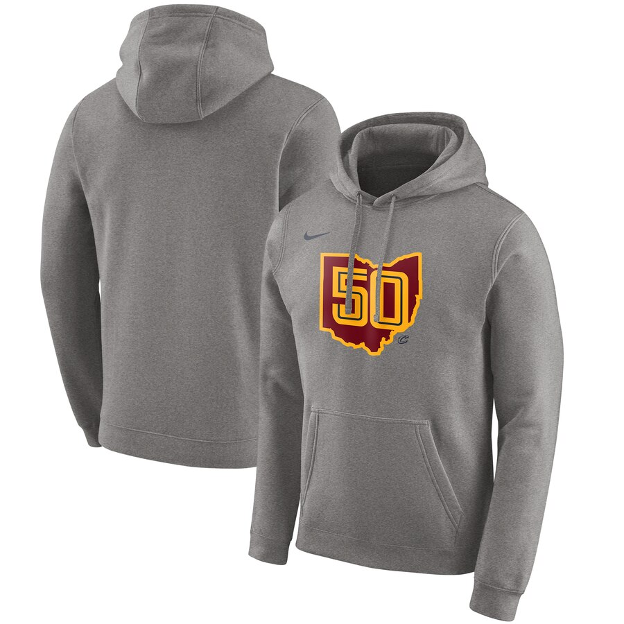 Cleveland Cavaliers Nike 2019-20 City Edition Club Pullover Hoodie Heather Gray