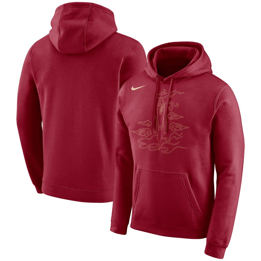 Houston Rockets Nike City Edition Logo Essential Pullover Hoodie Red