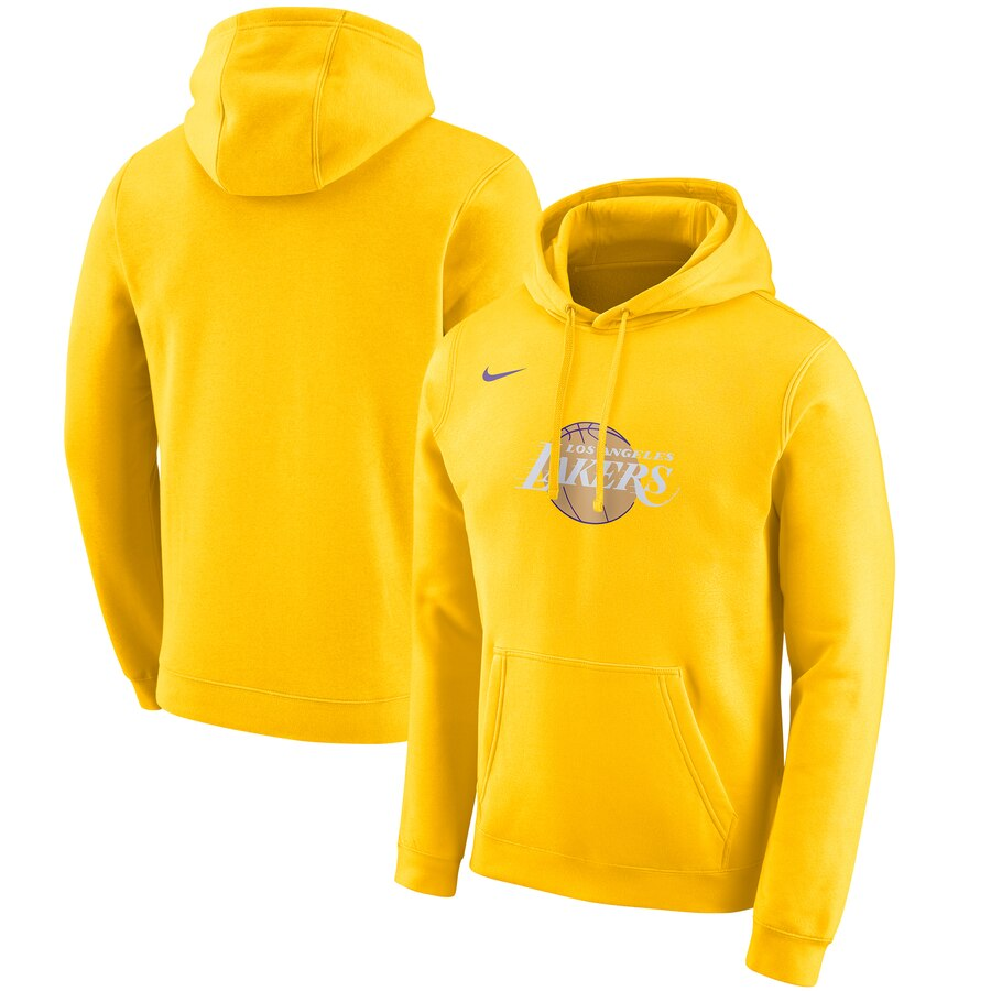 Los Angeles Lakers Nike 2019-20 City Edition Club Pullover Hoodie Gold