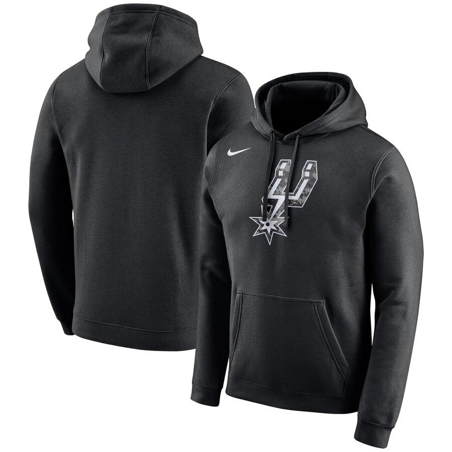 San Antonio Spurs Nike City Edition Logo Essential Pullover Hoodie Black