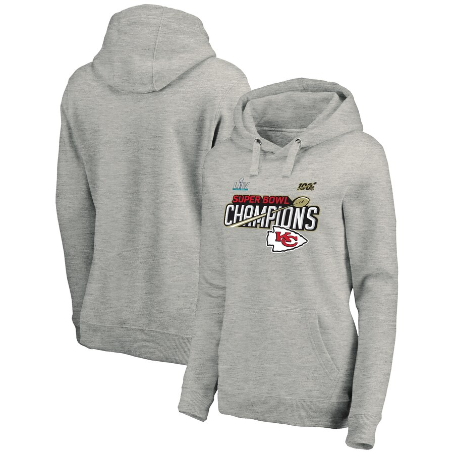 Kansas City Chiefs NFL Pro Line by Fanatics Branded Women's Super Bowl LIV Champions Lateral Pullover Hoodie Black
