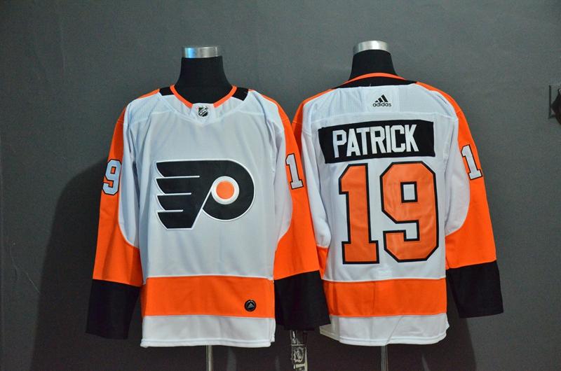 Flyers 19 Nolan Patrick White Adidas Jersey