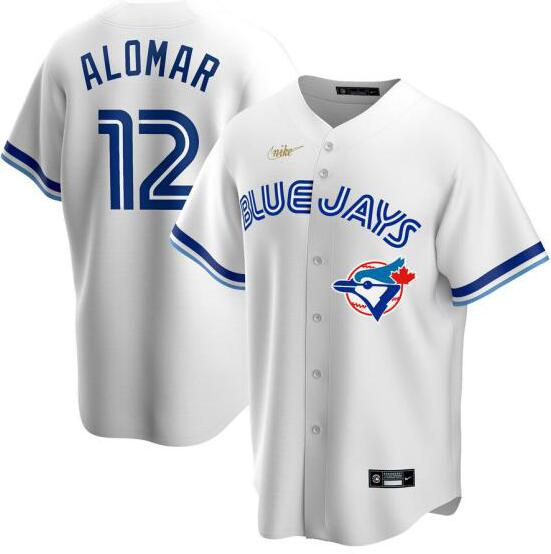 Blue Jays 12 Roberto Alomar White 2020 Nike Cool Base Jersey