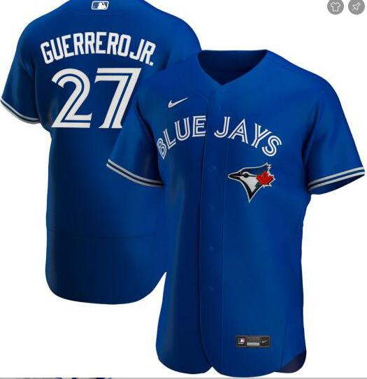Blue Jays 27 Vladimir Guerrero Jr. Royal 2020 Nike Flexbase Jersey