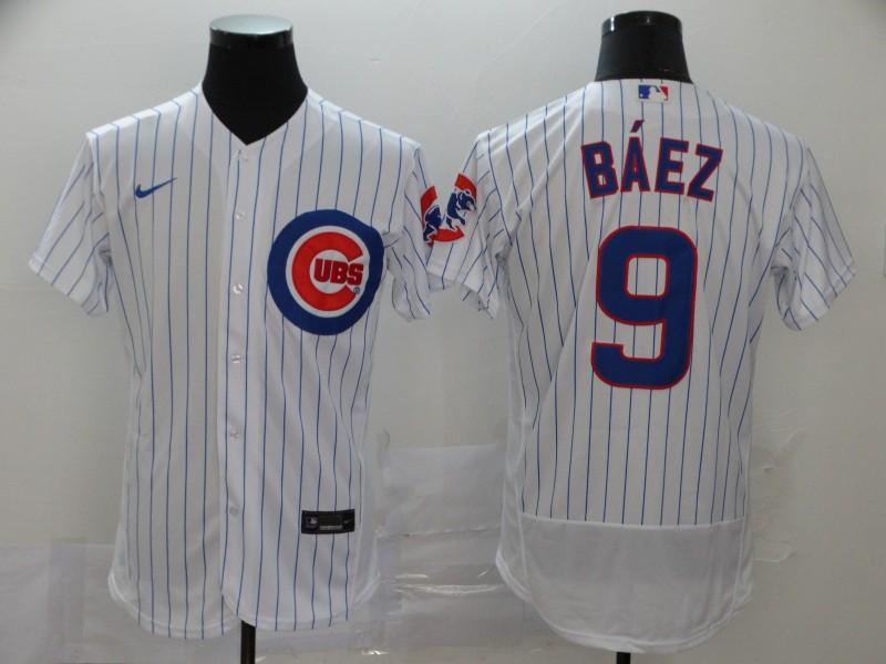 Cubs 9 Javier Baez White 2020 Nike Flexbase Jersey