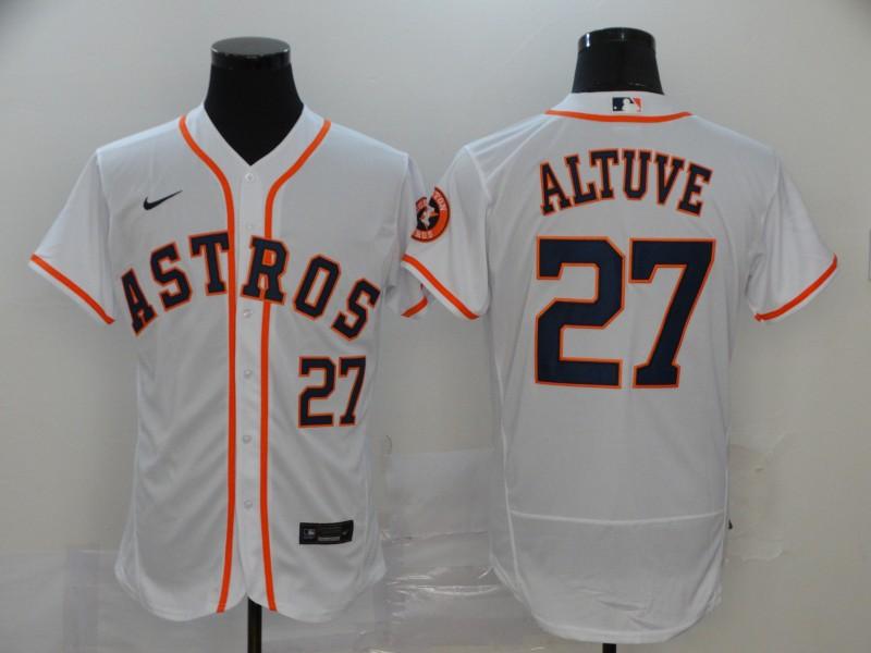 Astros 27 Jose Altuve White 2020 Nike Flexbase Jersey