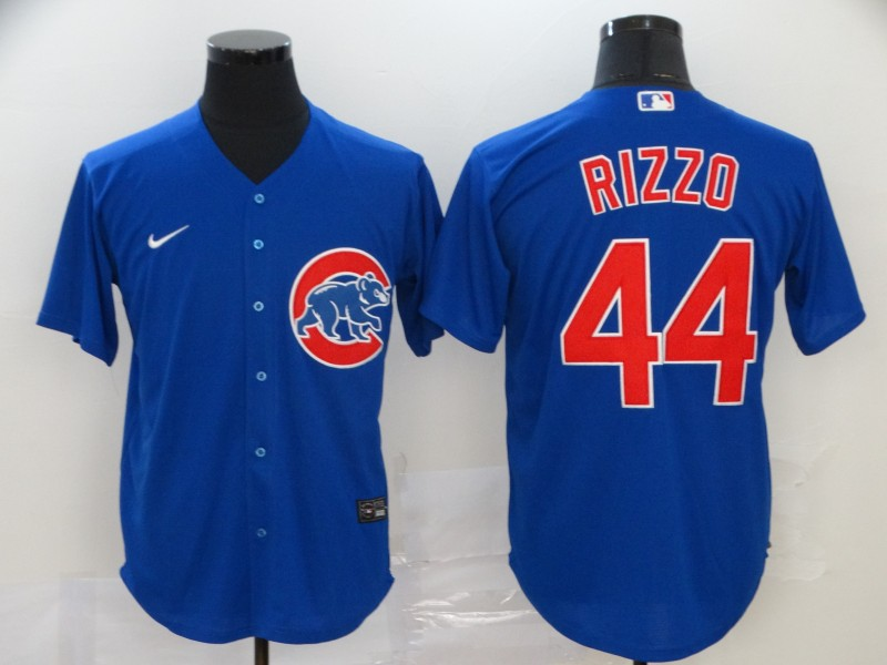 Cubs 44 Anthony Rizzo Royal 2020 Nike Cool Base Jersey