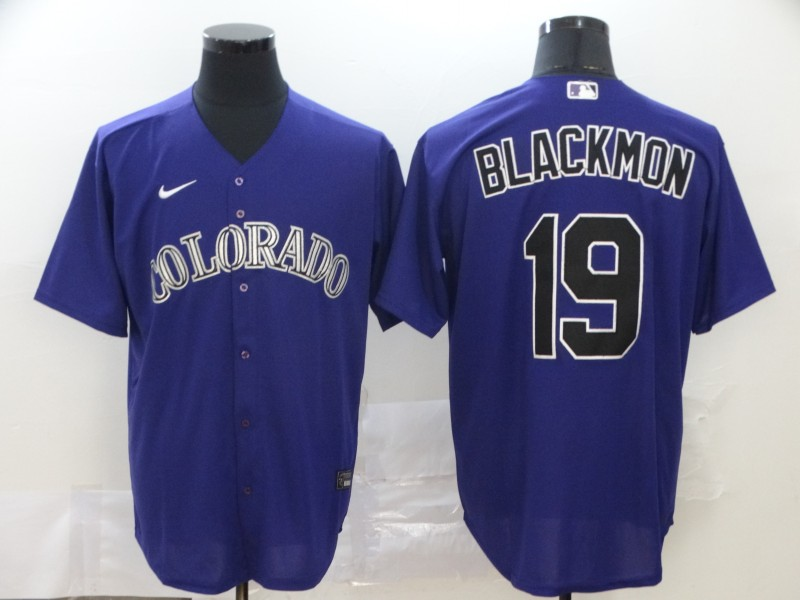 Rockies 19 Charlie Blackmon Purple 2020 Nike Cool Base Jersey