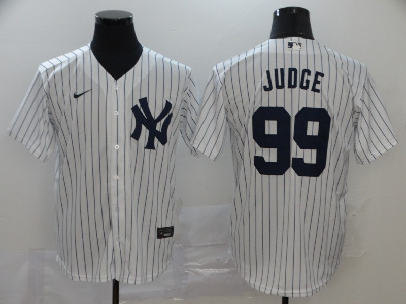 Yankees 99 Aaron Judge White 2020 Nike Cool Base Jersey