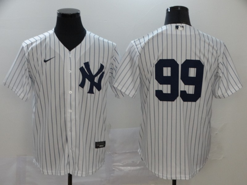 Yankees 99 Aaron Judge White 2020 Nike Cool Base Replica Player Jersey
