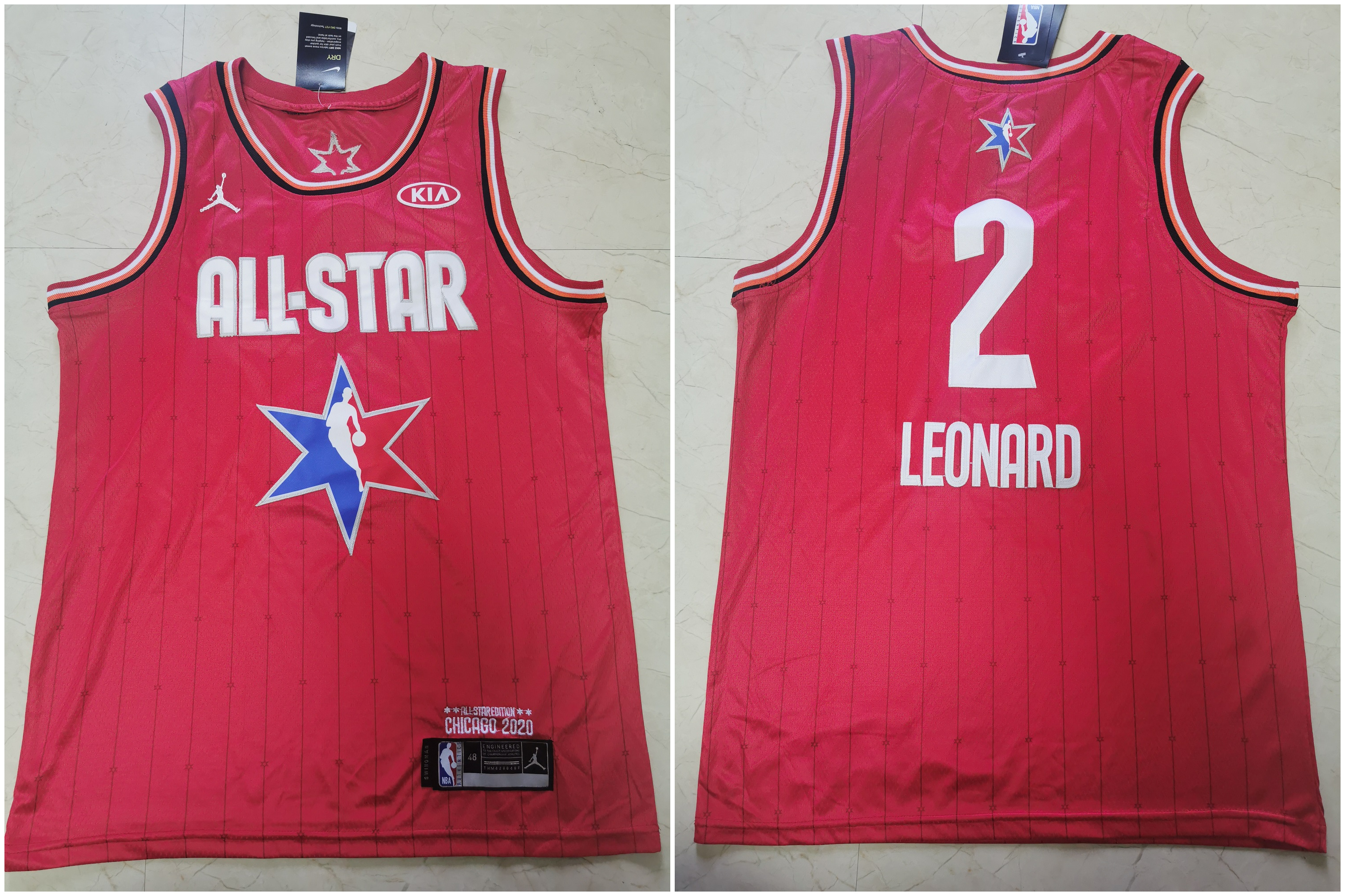 Clippers 2 Kawhi Leonard Red 2020 NBA All-Star Jordan Brand Swingman Jersey