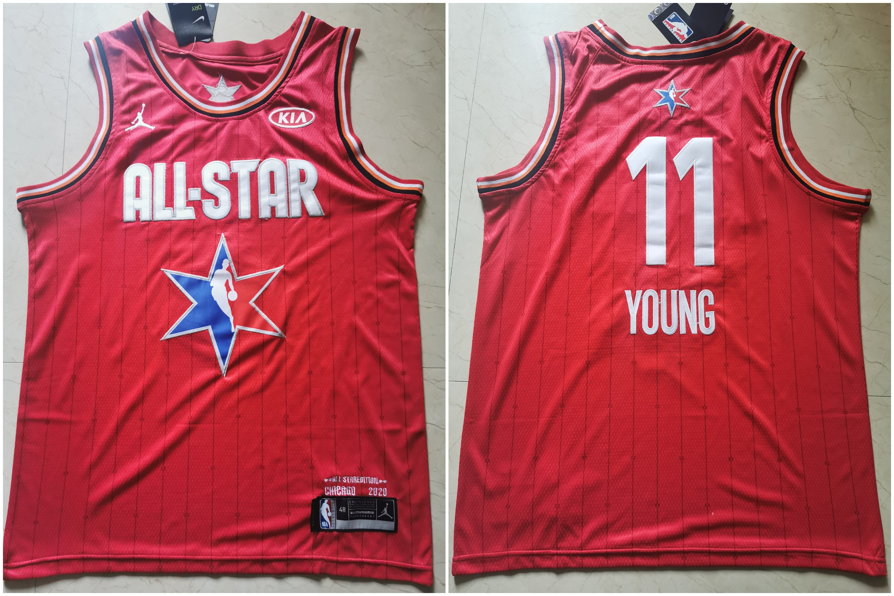 Hawks 11 Trae Young Red 2020 NBA All-Star Jordan Brand Swingman Jersey