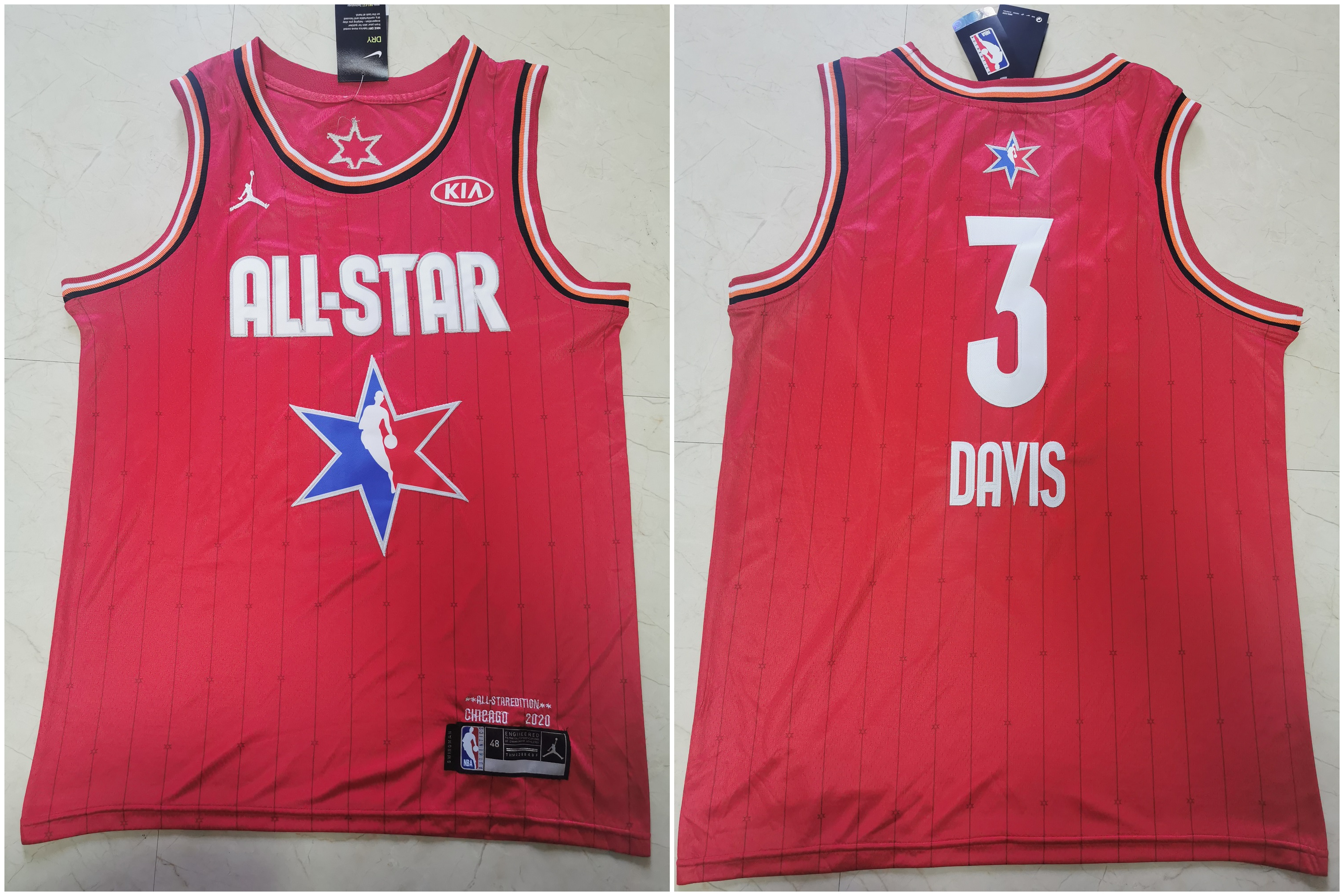 Lakers 3 Anthony Davis Red 2020 NBA All-Star Jordan Brand Swingman Jersey