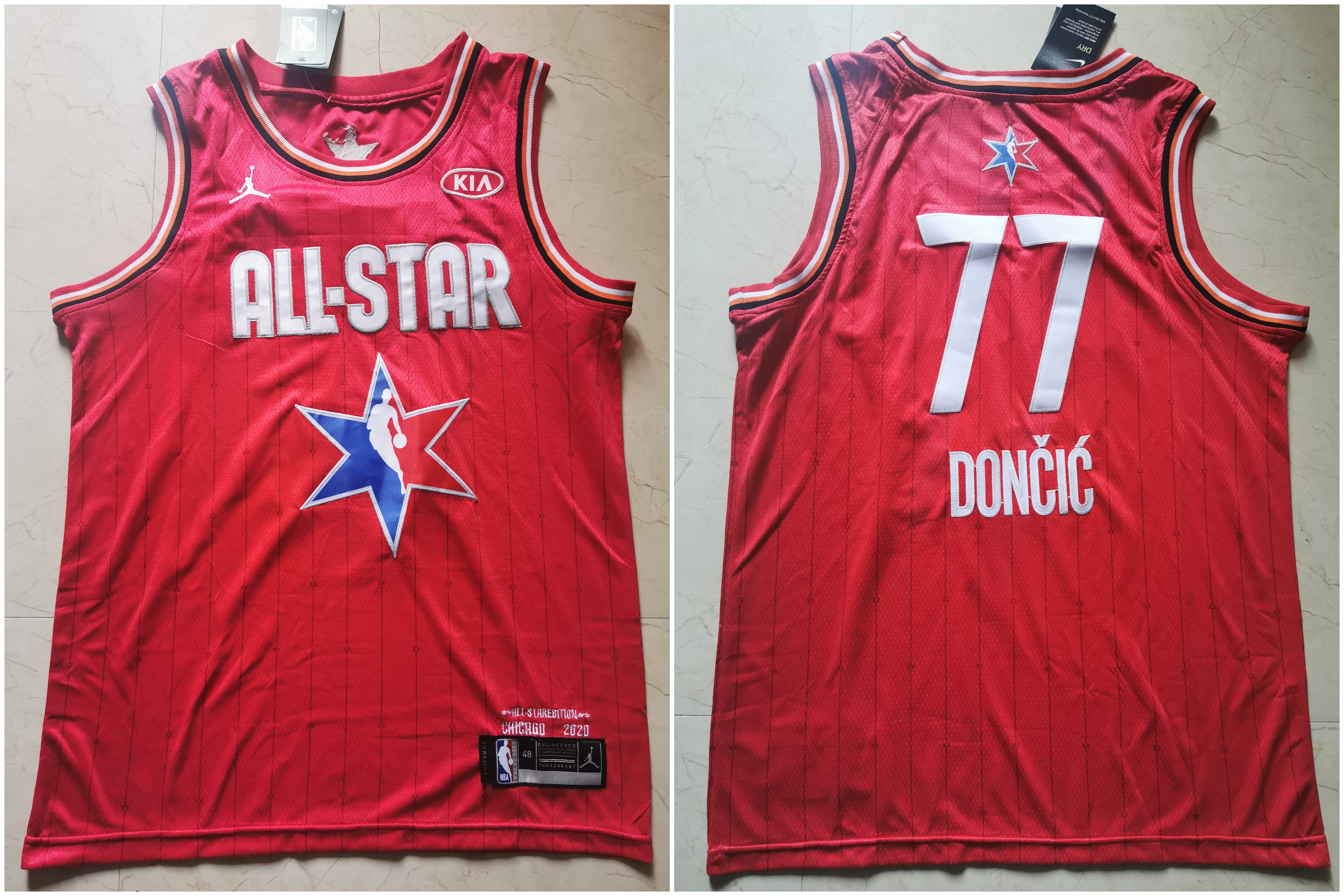 Mavericks 77 Luka Doncic Red 2020 NBA All-Star Jordan Brand Swingman Jersey