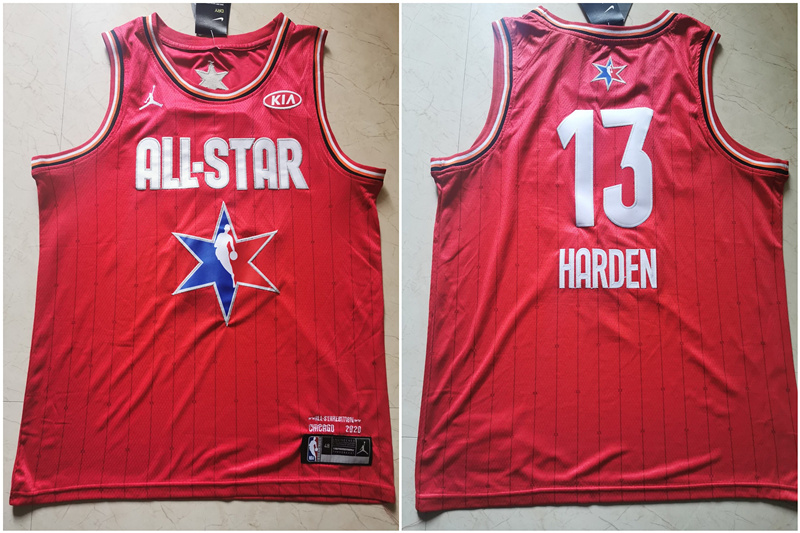 Rockets 13 James Harden Red 2020 NBA All-Star Jordan Brand Swingman Jersey