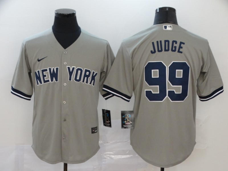 Yankees 99 Aaron Judge Gray 2020 Nike Cool Base Jersey