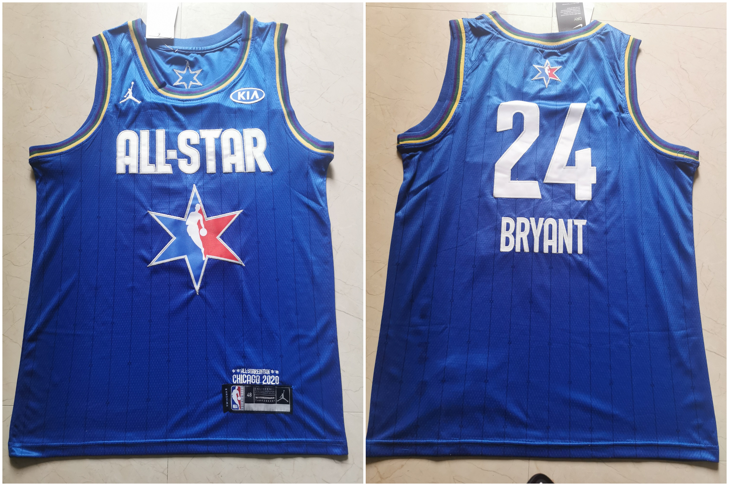 Lakers 24 Kobe Bryant Blue 2020 NBA All-Star Jordan Brand Swingman Jersey