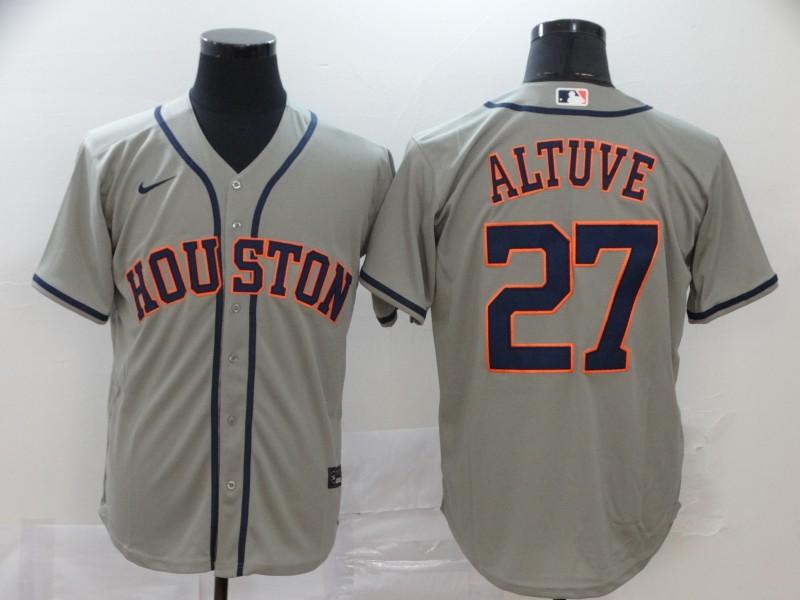 Astros 27 Jose Altuve Gray 2020 Nike Cool Base Jersey