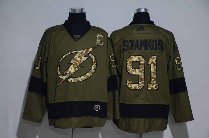 Lightning 91 Steven Stamkos Olive Adidas Jersey