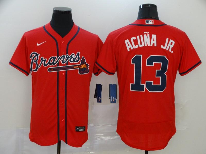 Braves 13 Ronald Acuna Jr. Red 2020 Nike Flexbase Jersey