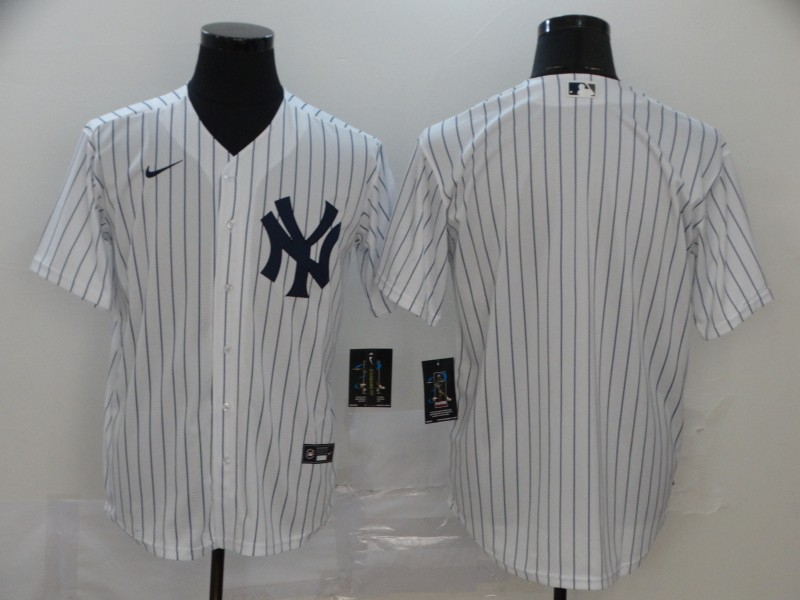 Yankees Blank White 2020 Nike Cool Base Jersey