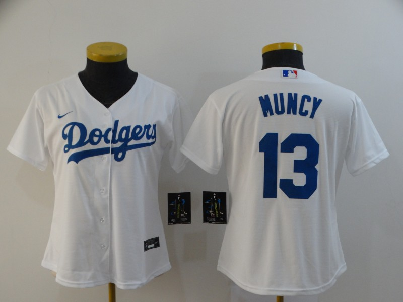 Dodgers 13 Max Muncy White Women 2020 Nike Cool Base Jersey