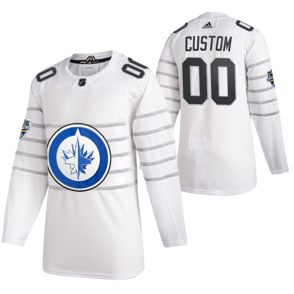 Jets Customized White 2020 NHL All-Star Game Adidas Jersey
