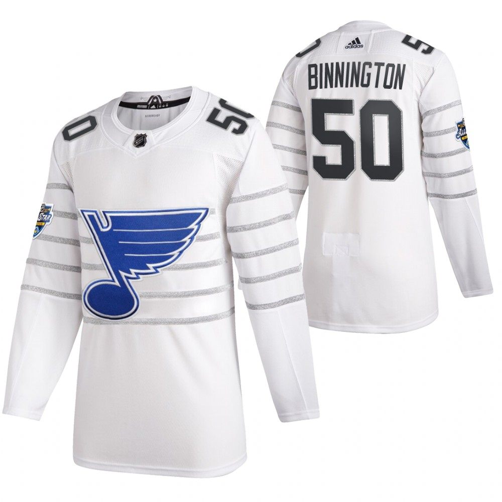 Blues 50 Jordan Binnington White 2020 NHL All-Star Game Adidas Jersey