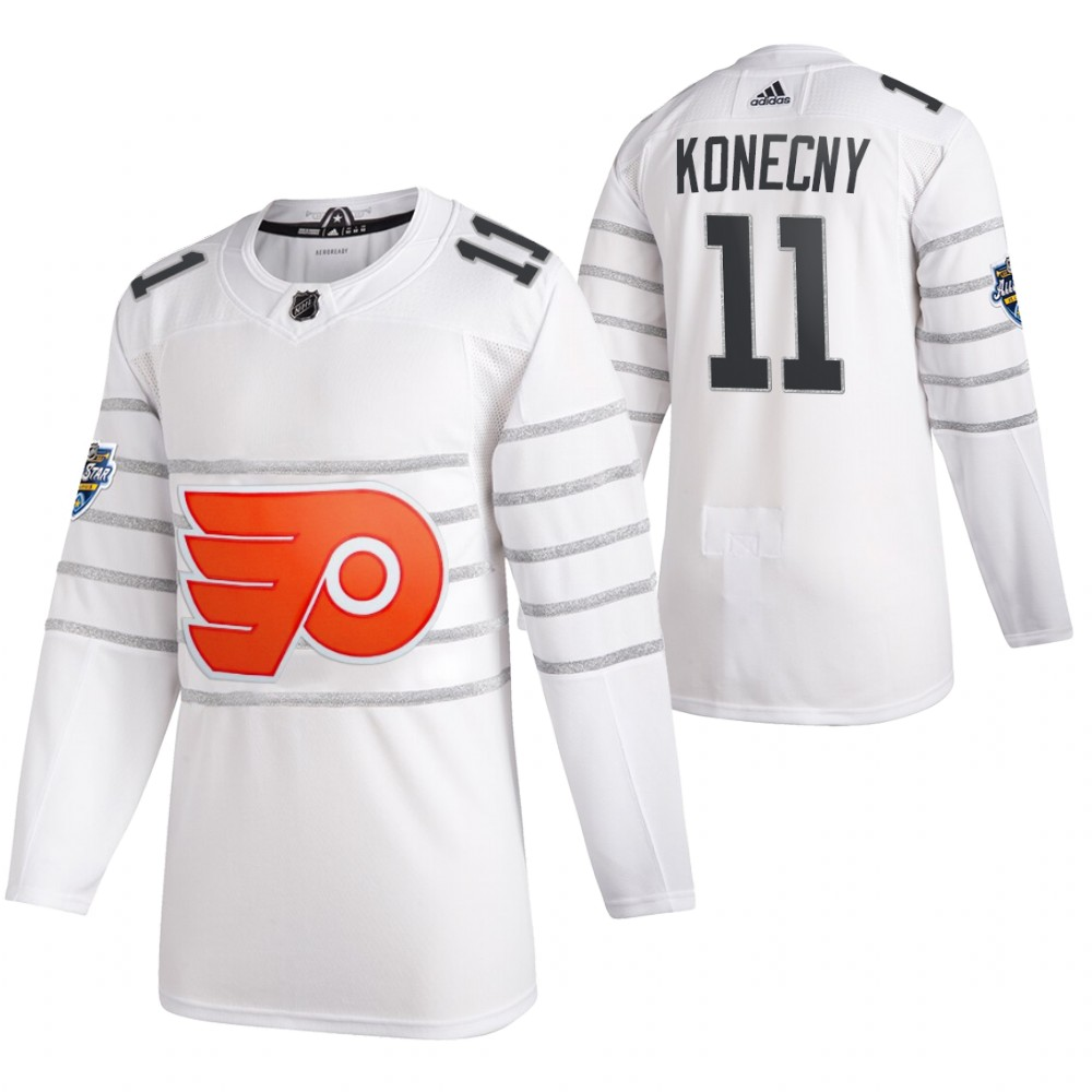 Flyers 11 Travis Konecny White 2020 NHL All-Star Game Adidas Jersey