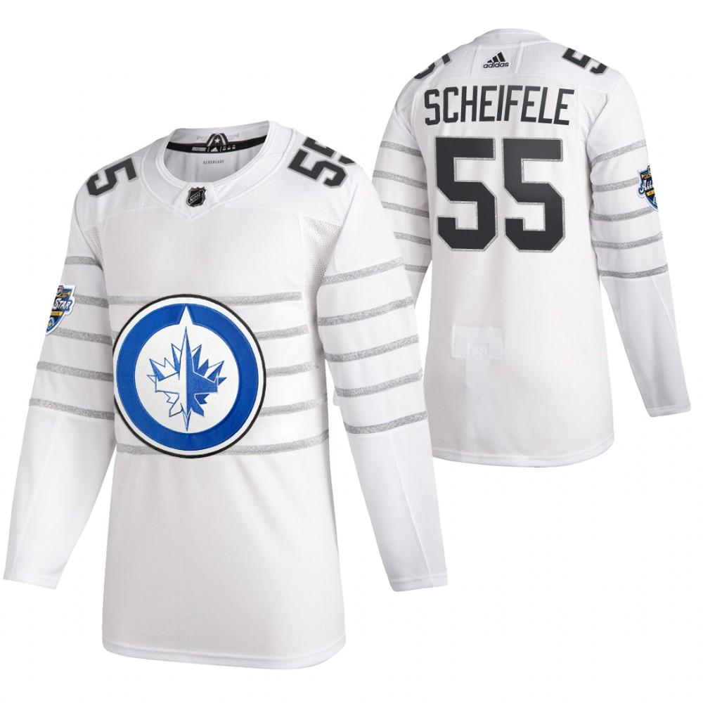 Jets 55 Mark Scheifele White 2020 NHL All-Star Game Adidas Jersey