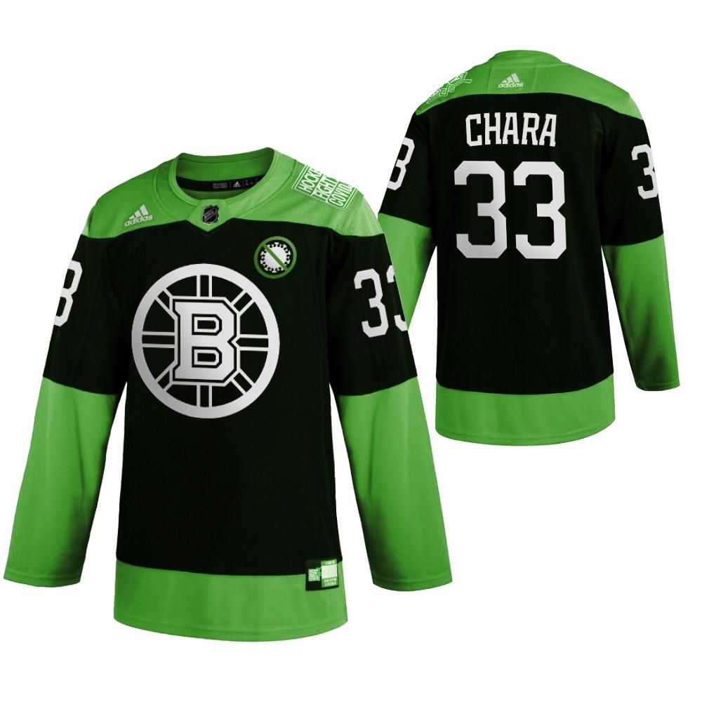Bruins 33 Zdeno Chara Green 2020 Adidas Jersey