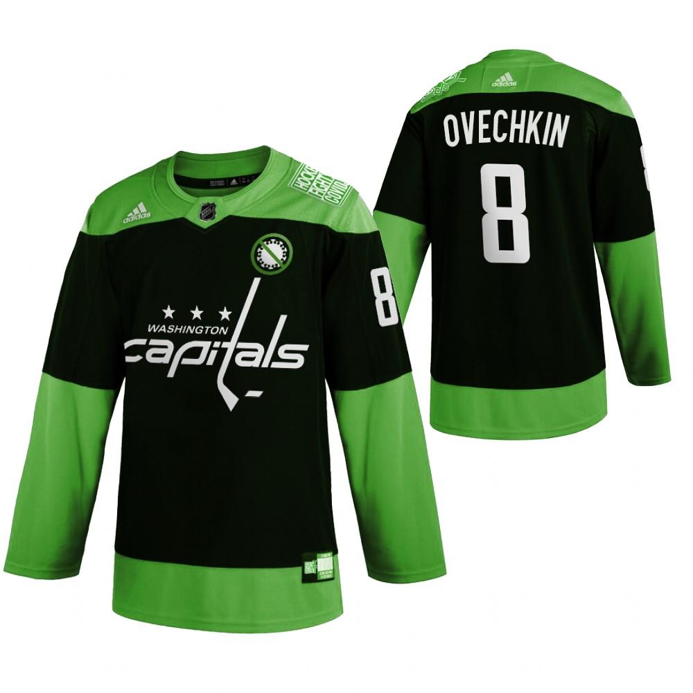Capitals 8 Alexander Ovechkin Green 2020 Adidas Jersey