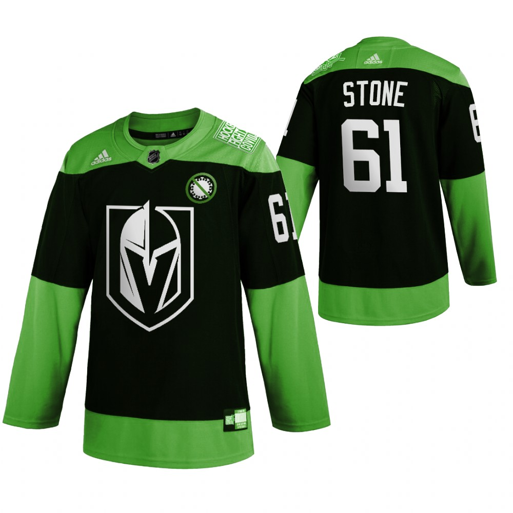 Vegas Golden Knights 61 Mark Stone Green 2020 Adidas Jersey
