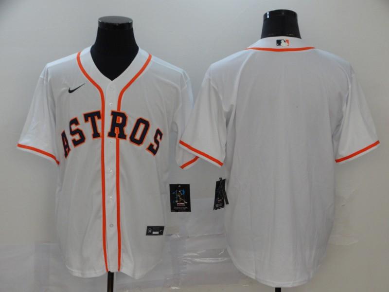 Astros Blank White 2020 Nike Cool Base Jersey