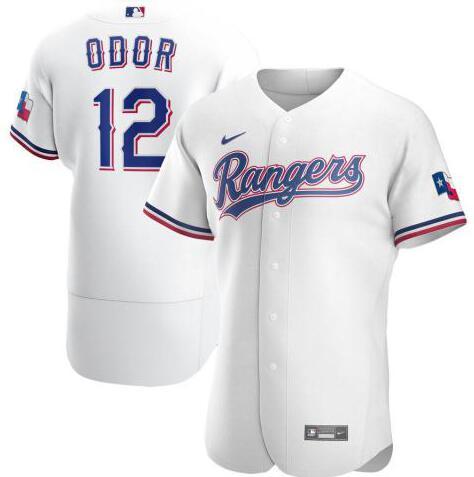 Rangers 12 Rougned Odor White 2020 Nike Flexbase Jersey